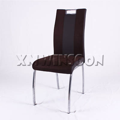 Metal And Leather Dining Chairs