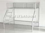 Contemporary Twin Over Twin Queen Metal Bunk Bed Multiple Colors AD0100