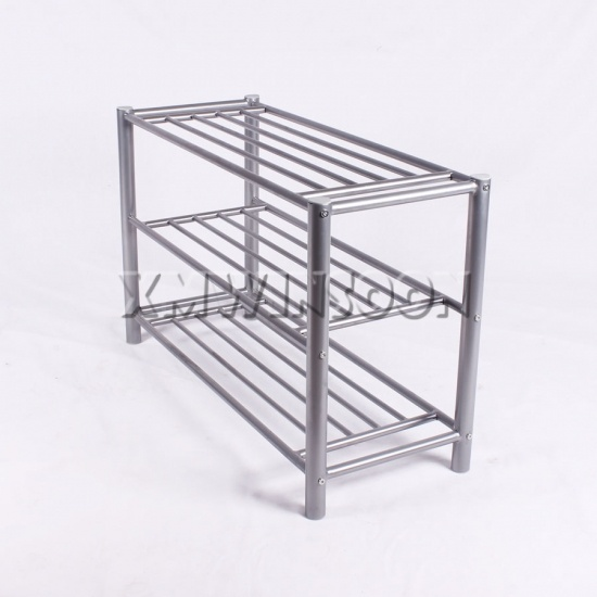 Cheap metal tube shoe rack 3 tier for small spaces ae4020 chinese furniture manufacturers - Shoe rack for small spaces image ...