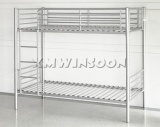 Twin Over Full Metal Bunk Bed Frame With Stairs AD0090