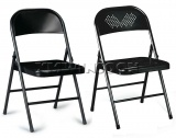 Cheap Black Heavy Duty Metal Folding Chairs AC0090