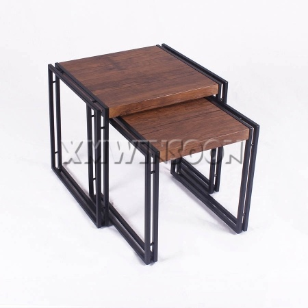 Modern Metal Nesting Side Tables Set