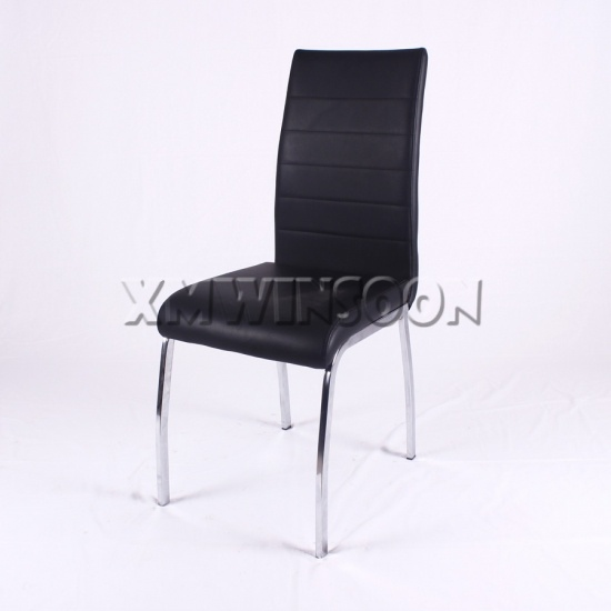 Chrome And Black Leather Metal Dining Chairs Ac6021 Chinese