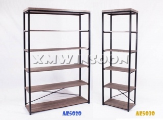 6 Shelf Metal MDF Bookcases