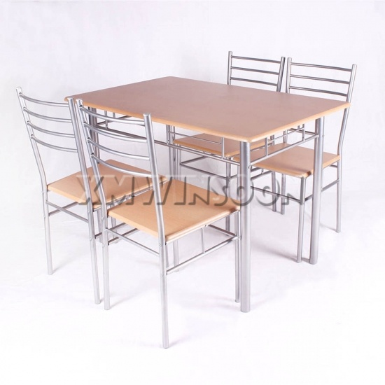 Cheap metal dining room table and chairs sets for 4 aa0200 for Cheap dinner table and chairs