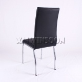 Chrome And Black Leather Metal Dining Chairs AC6021