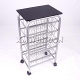 Metal Kitchen Island Cart On Wheels With 5 Baskets AB3210