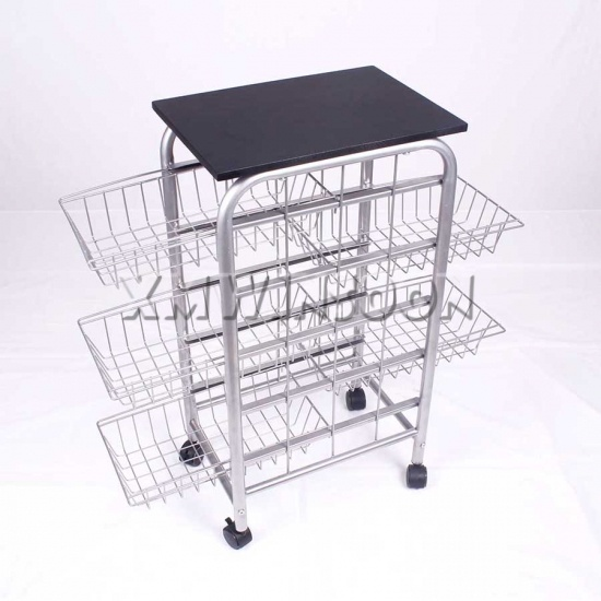 Metal Kitchen Island Cart On Wheels With 5 Baskets Ab3210 Chinese Furniture Manufacturers