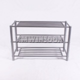 Cheap Metal Tube Shoe Rack 3 Tier For Small Spaces AE4020