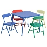 5 Piece Steel Kids Folding Table And Chairs Set AA5030