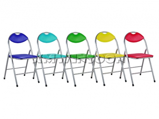 Grey Metal Frame Folding Chairs With Cushion AC0050 ...