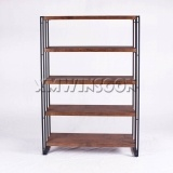5 Shelves Metal MDF Display Storage Shelf With Metal Legs