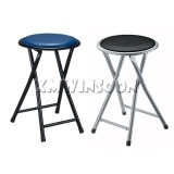 Cheap Metal Folding Stools With Printed Pattern Padded AC0010