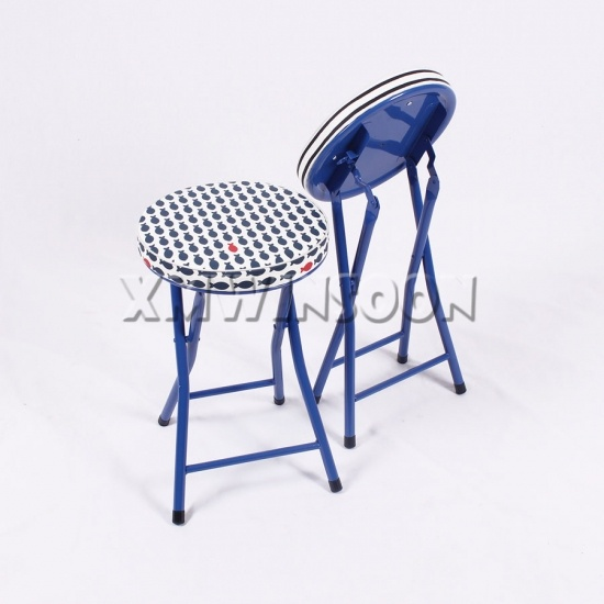 Incredible Pattern Metal Thick Padded Folding Stool Ac0014 Chinese Creativecarmelina Interior Chair Design Creativecarmelinacom