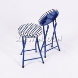 Pattern Metal Thick Padded Folding Stool AC0014