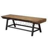 Rustic Dining Bench Seat With Magnesium Oxide Top AC9200