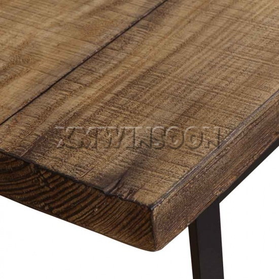 Faux Wood Outdoor Rectangular Dining Table MGO Top AB8010 Chinese Furniture M
