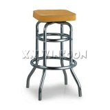 Backless Counter Height Metal Padded Swivel Bar Stools Without Back 29