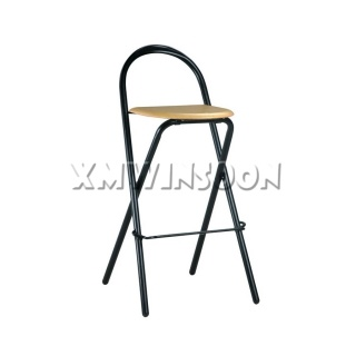Metal And Wood Folding Bar Stools